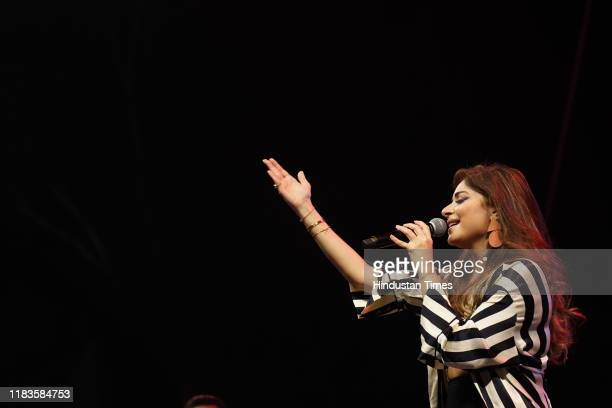 Indian singer Kanika Kapoor performs at Hindustan Times Palate Fest at Nehru Park Chanakyapuri on November 16 2019 in New Delhi India