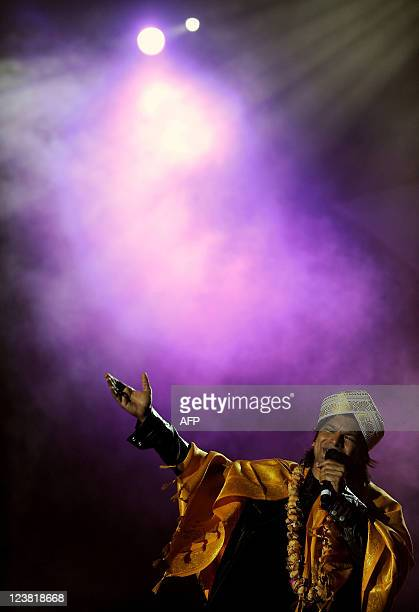 Indian singer Shaan gives a performance during the 49th 'Bengaluru Ganesh Utsava' in Bangalore on September 4 2011 The show was held as part of the...