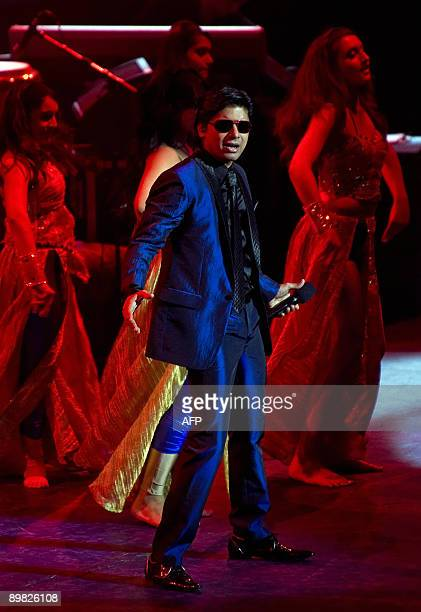 Indian singer Shaan performs onstage with members of Honey's Dance Academy on Indian Voices day during the BBC Proms 2009 at the Royal Albert Hall...