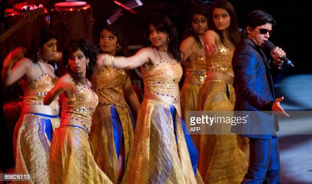 Indian singer Shaan performs onstage with 'The Groove' and members of Honey's Dance Academy on Indian Voices day during the BBC Proms 2009 at the...