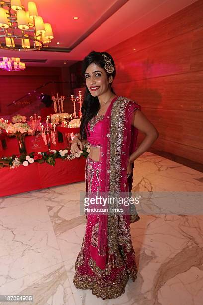 Indian singer Shivani Kashyap during prewedding party of singer Daler Mehndi's daughter Ajit Kaur with Navraj Singh son of singer Hans Raj Hans on...