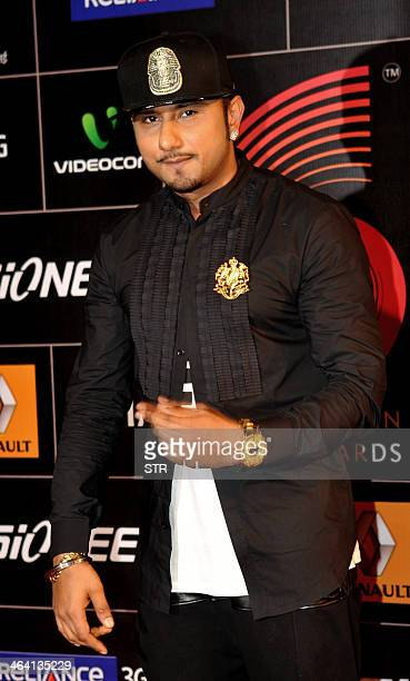 Indian singer/rapper music producer Honey Singh poses during the 'Gima Awards' ceremony in Mumbai on January 20 2014 AFP PHOTO
