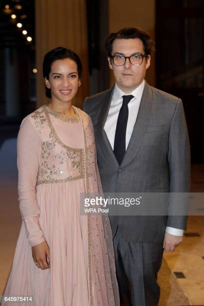 Indian sitar player Anoushka Shankar and her husband British director Joe Wright attend a reception this evening to mark the launch of the UKIndia...