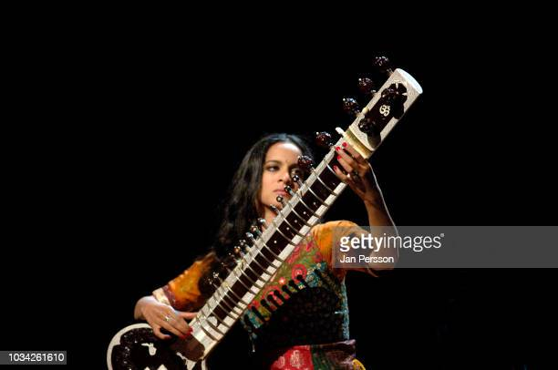 Indian sitar player Anoushka Shankar performing in Copenhagen Denmark July 8 2012