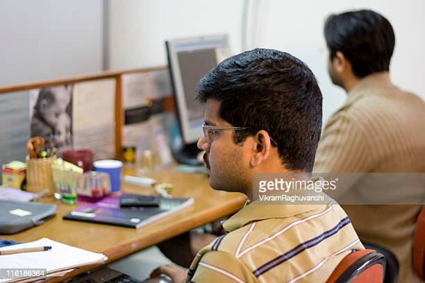 Indian software engineer professional Office Worker Computer Adult People Horizontal