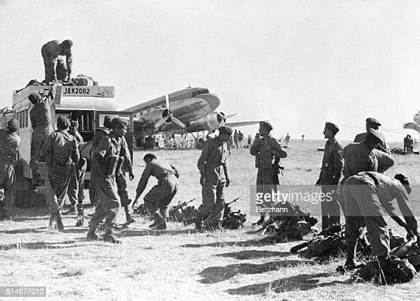 Indian soldiers supplied by the British arrive in Srinagar to fight Pakistani troops for ownership of the Kashmir region of India Soon after Indian...