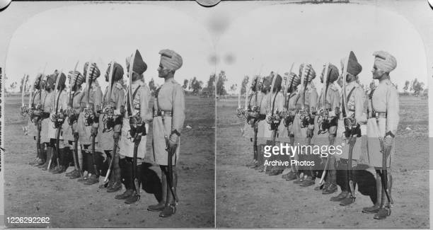 Indian soldiers supporting the British Army in Bloemfontein in the Free State of South Africa during the Second Boer War 1900