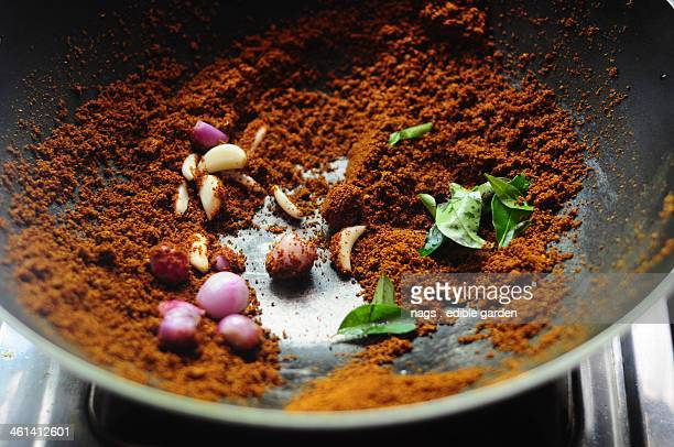 Indian Spices Roasting in Pan