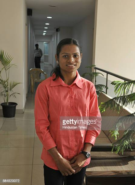 Indian sprinter Dutee Chand at SAI office on September 26 2014 in New Delhi India Chand defied all odds to qualify for the womens 100 metres event at...