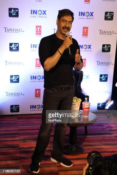 Indian star Actor Ajay Devgn at meet the press at the new film Tanhaji Film Promotion on December 03,2019 in Kolkata ,photo by Debajyoti...