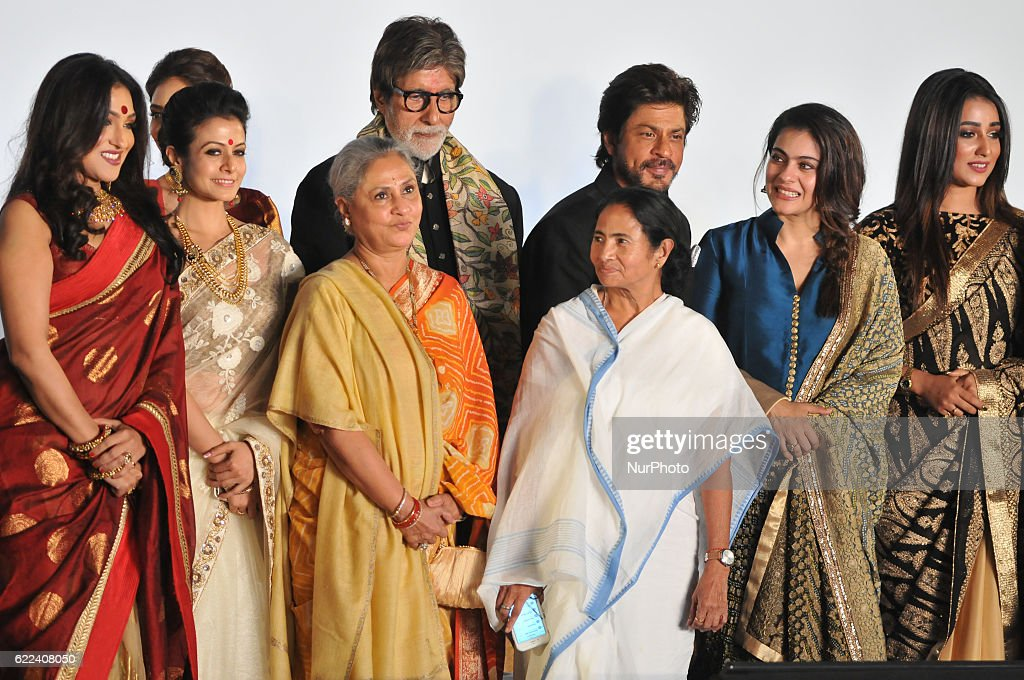 Indian Star Actor Amitabh Bachchan along West Bengal Chief Minister Mamata Banerjee Actor Shah Rukh Khan Veteran Actress Jaya Bachchan MP Actress...