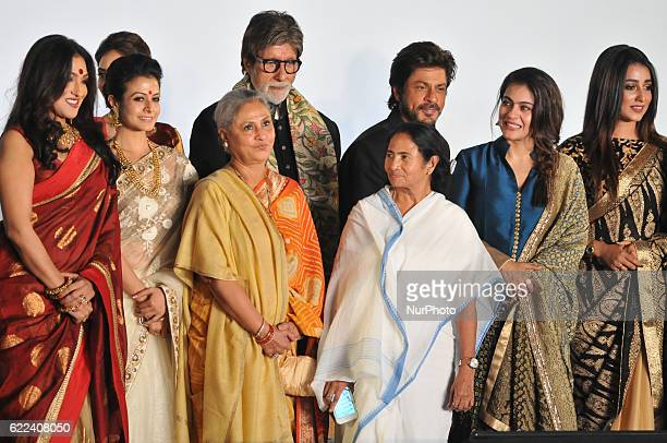 Indian Star Actor Amitabh Bachchan along West Bengal Chief Minister Mamata Banerjee Actor Shah Rukh Khan Veteran Actress Jaya Bachchan MP Actress...