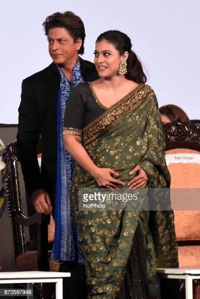 Indian star Actor Shah Rukh Khan and Actress Kajol at the Inauguration Ceremony 23rd Kolkata International Film Festival on November 10,2017 in...