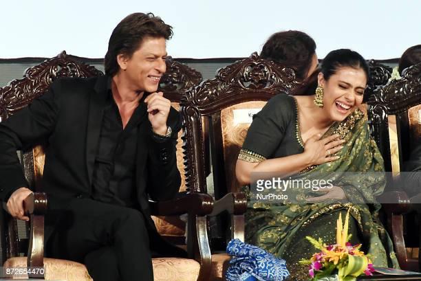 Indian star Actor Shah Rukh Khan and Actress Kajol at the Inauguration Ceremony 23rd Kolkata International Film Festival on November 102017 in...