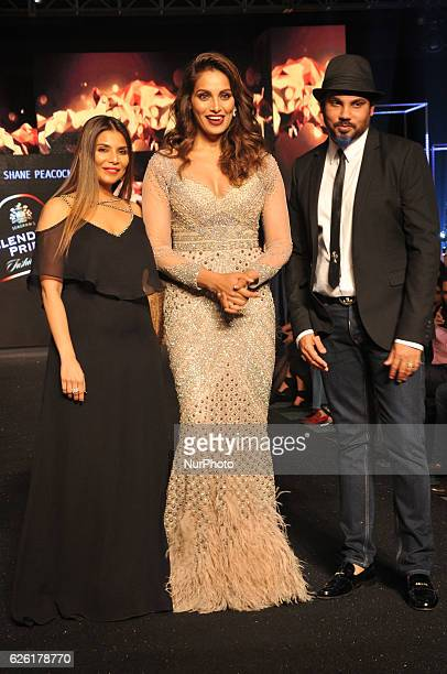 Indian Star Actress Bipasha Basu Walk the ramp to the display creation of Fashion Designers Falguni and Shane Peacock at the Blenders Pride Fashion...