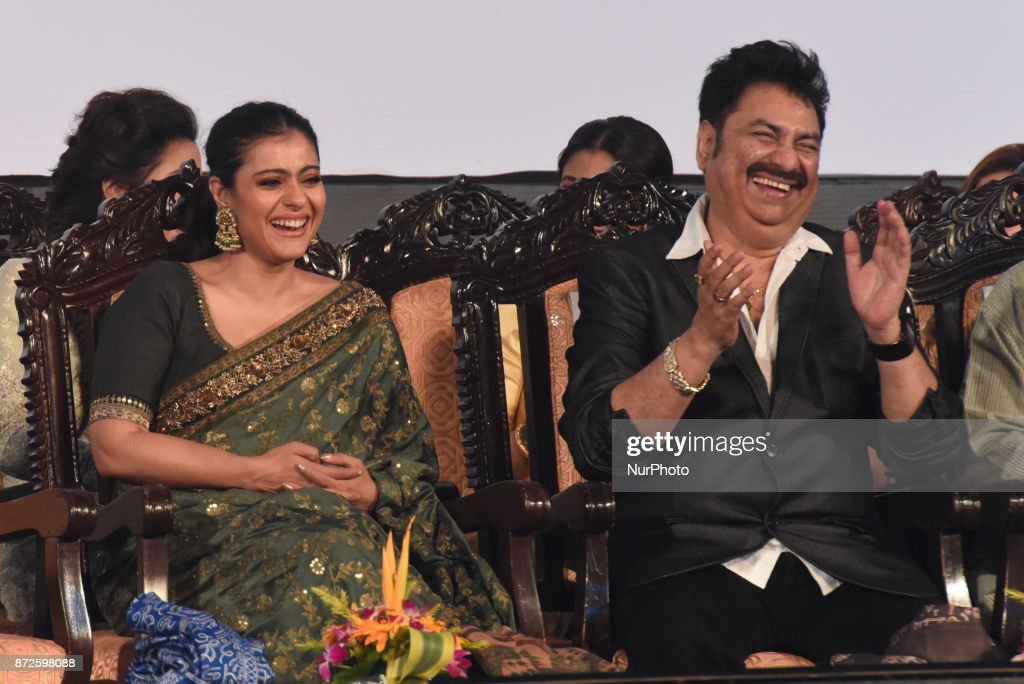 Indian star Actress Kajol and Singer Kumar Sanu at the Inauguration Ceremony 23rd Kolkata International Film Festival on November 102017 in Kolkata...