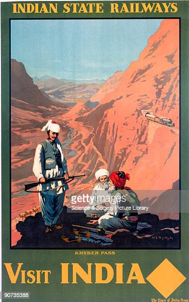 Indian State Railways poster promoting the Khyber Pass by William Spencer Bagdatopolos
