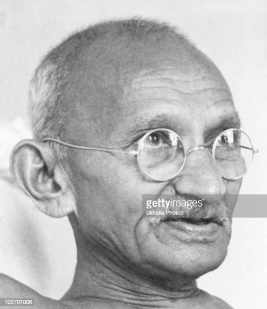 Indian statesman and activist Mohandas Karamchand Gandhi at Birla House Mumbai August 1942