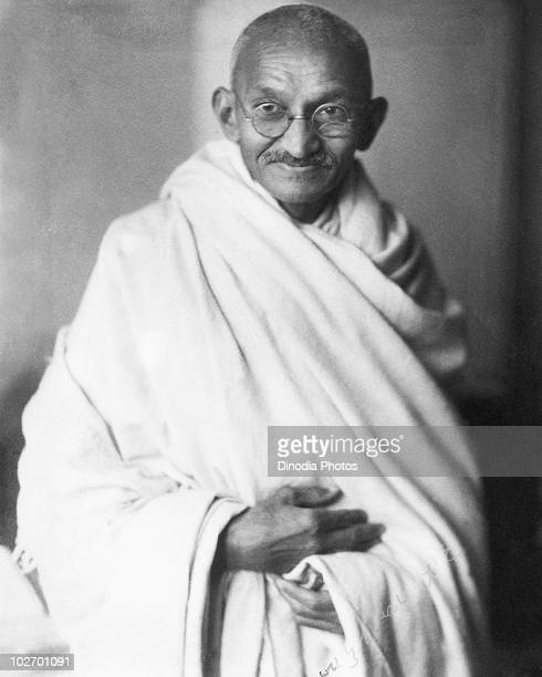 Indian statesman and activist Mohandas Karamchand Gandhi circa 1940
