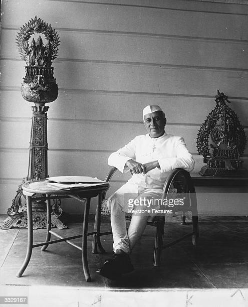 Indian statesman and prime minister Jawaharlal Nehru known as Pandit