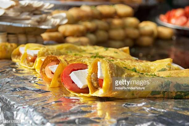 Indian Street food,Paneer rolls