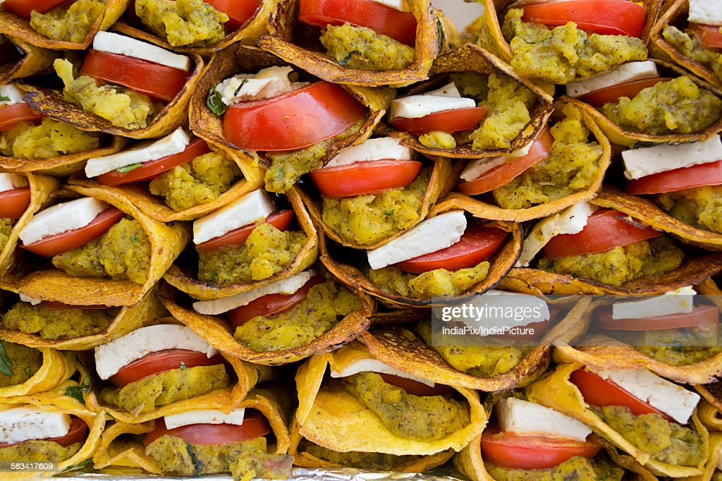 Indian Street food,Paneer rolls : Stock Photo