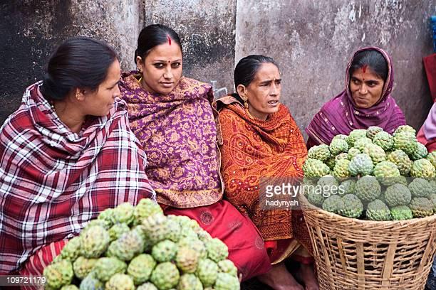 Indian street Verkäufer in Kathmandu.s