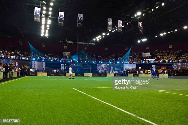 Indian striker Sunil Chhetri and the legendary Indian footballer Bhaichung Bhutia kickstart the exhibit football match organised in honour of French...