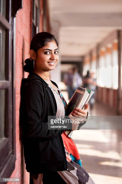 indian student girl - indian college girls stock photos and pictures