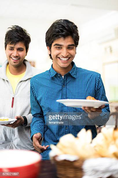 Indian Students in Canteen