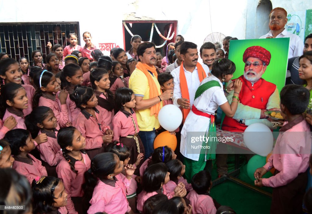 Indian Students of Primary school take part in an event on