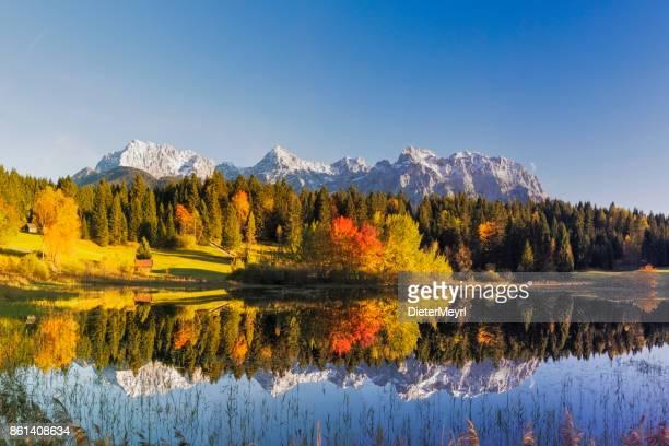 Indian Summer at Tennsee, Karwendel Mountains, Bavarian Alps, XXL Panorama