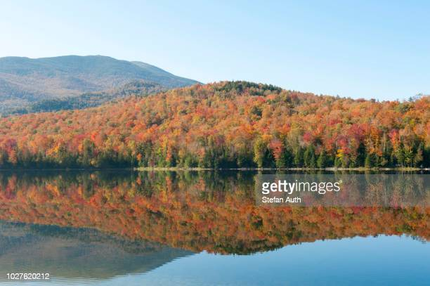 Indian summer, foliage in autumn, Heart Lake, Adirondacks, Adirondack Mountains, near Lake Placid, New York, USA