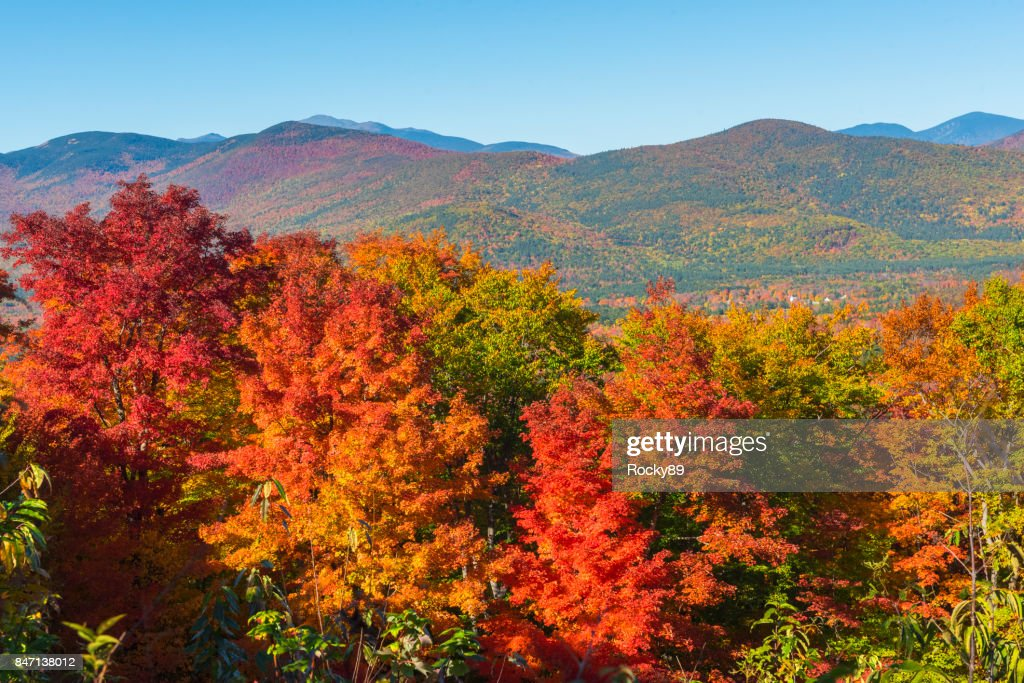 Indian Summer in New Hampshire, USA : Stock Photo