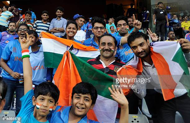 Indian supporters during ICC World Twenty20 India 2016 Semi Final match between India and West Indies on March 31 2016 in Mumbai India