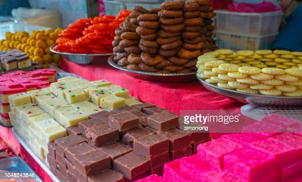 indian sweets and delicacies - sweet food stock pictures, royalty-free photos & images