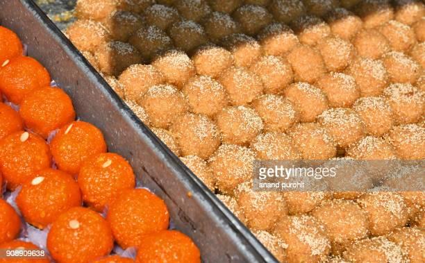 Indian sweets Motichoor ladoo or laddu