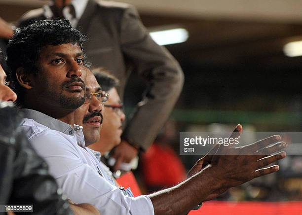Indian Tamil film actor Vishal Krishna attends the Celebrity Cricket League 2013 Finals between Karnataka Bulldozers and Telugu Warriors at the...