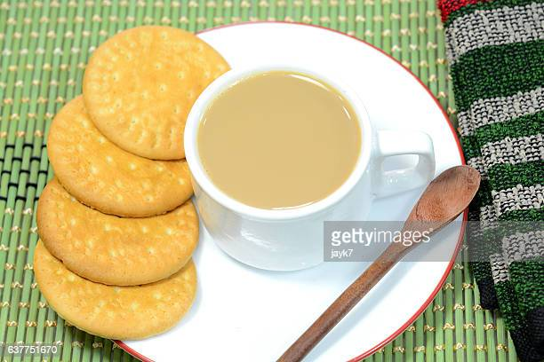 Indian Tea and biscuits