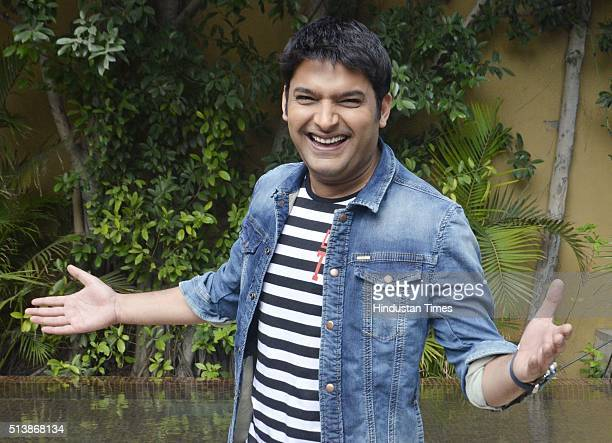 Indian television actor and comedian Kapil Sharma during a press conference after meeting with the jawans at Wagah border on March 5 2016 in Amritsar...