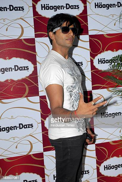 Indian television actor Karanvir Bohra during International Women's Day party which is hosted by Maria Goretti at Haagen Dazs lounge Bandra on March...