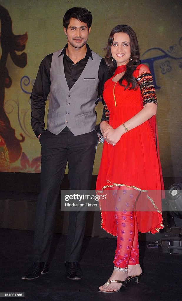 Indian Television actors Farhan Khan and Sanaya Irani during