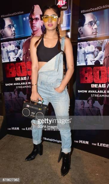 Indian television actress Karishma Sharma attend the special screening of Web series Bose Dead/Alive at Sunny sound studio Juhu in Mumbai