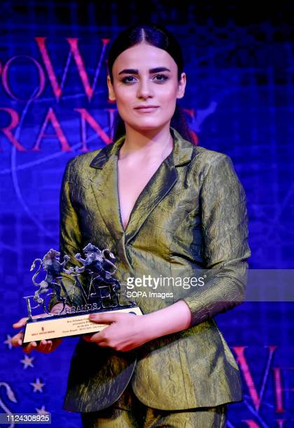 Indian television actress Radhika Madan attends Power BrandsBollywood Film Journalist's Award 2019 at hotel Novotel Juhu in Mumbai