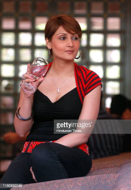 Indian television actress Urvashi Dholakia during a photo session, on June 12, 2007 in New Delhi, India.