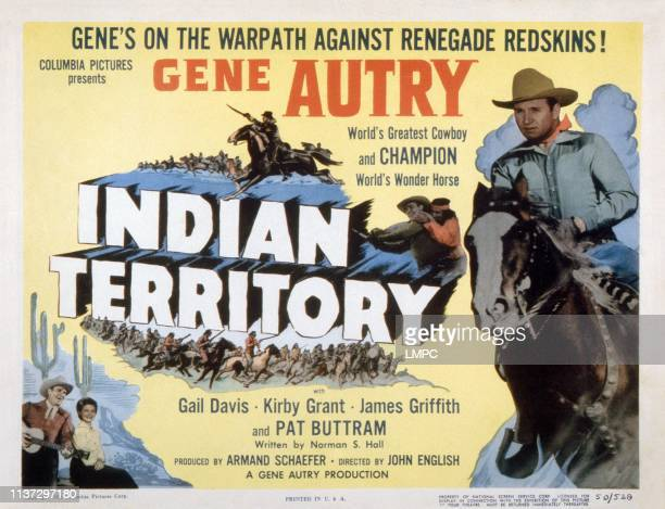 Indian Territory lobbycard US poster Gene Autry Gail Davis 1950