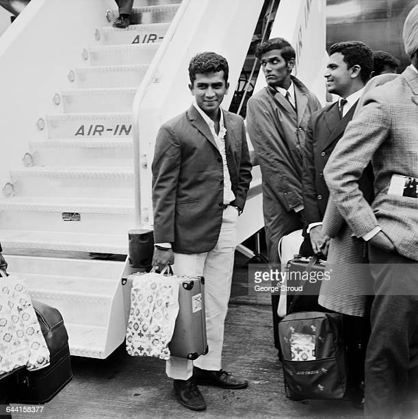 Indian test cricketers arriving at London Airport for the start of their tour pictured is Sunil Gavaskar aka 'Sunny' UK 18th June 1971