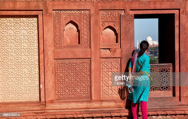 Indian Tourist at Agra Fort. India