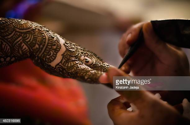 Indian Traditional Ceremony Of Henna Application