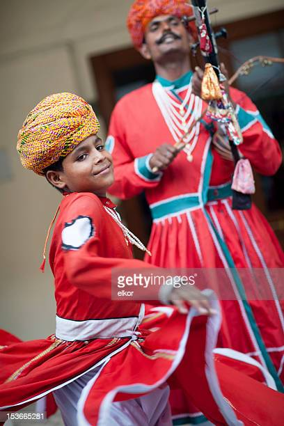 indian traditional musician and dancer, jaipur, rajasthan - traditional musician stock photos and pictures